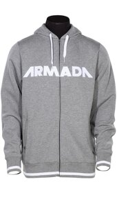 Armada Mikina REPRESENT HOODY heather grey